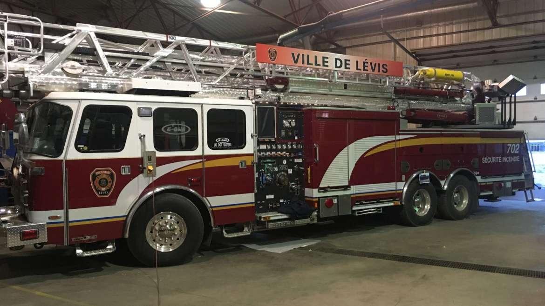 Lettrage – Camion d'incendie